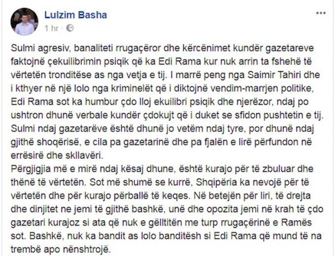 Sulmi i Ramës ndaj gazetarëve, reagojnë Basha dhe Kryemadhi