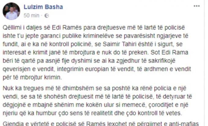 Basha: Rama doli para policive