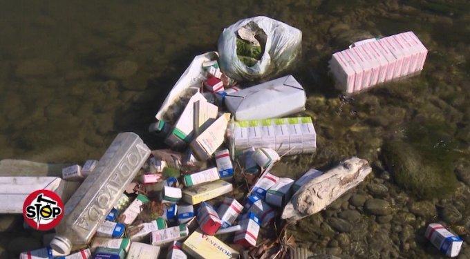 Medikamente të rrezikshme hidhen në lumin Erzen