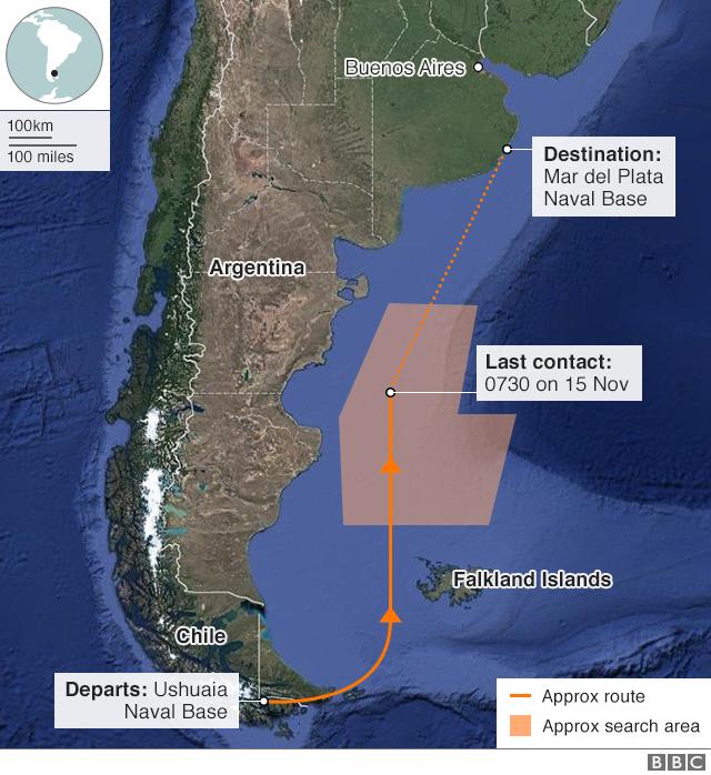 Zhdukja e nëndetesës argjentinase, detaje të reja nga kërkimet