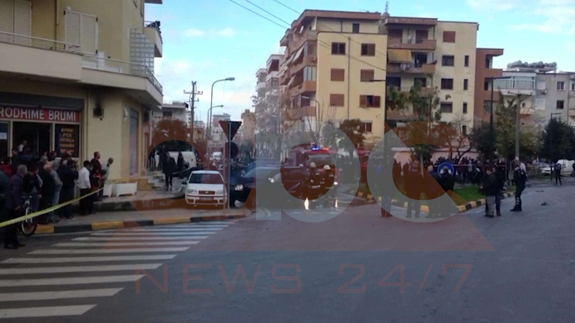Video/Shpërthen makina me tritol në Vlorë, gjymtohet i riu