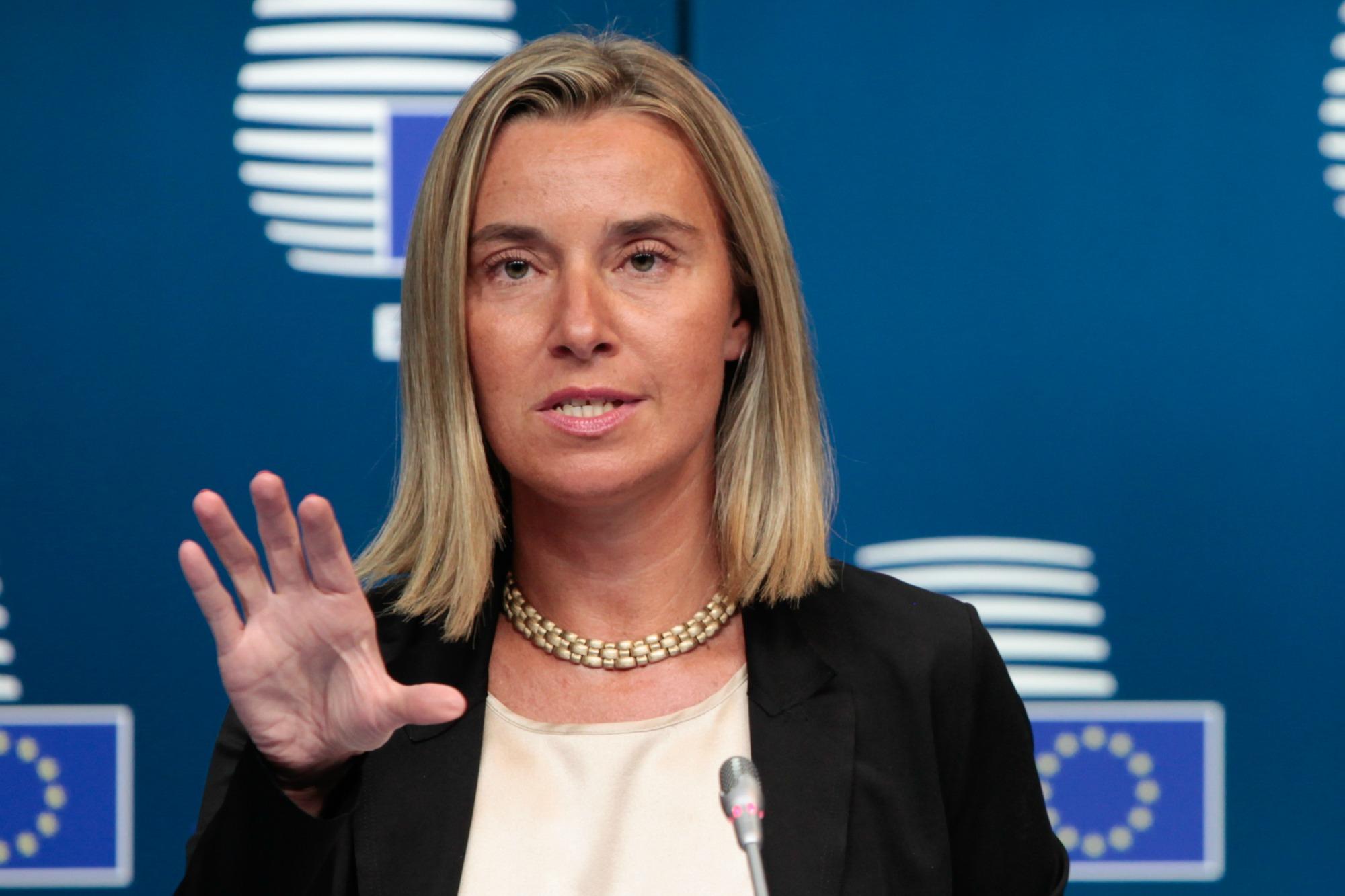 Reagimi i Mogherinit pas takimit me Thaçin dhe Vuçiç në Bruksel