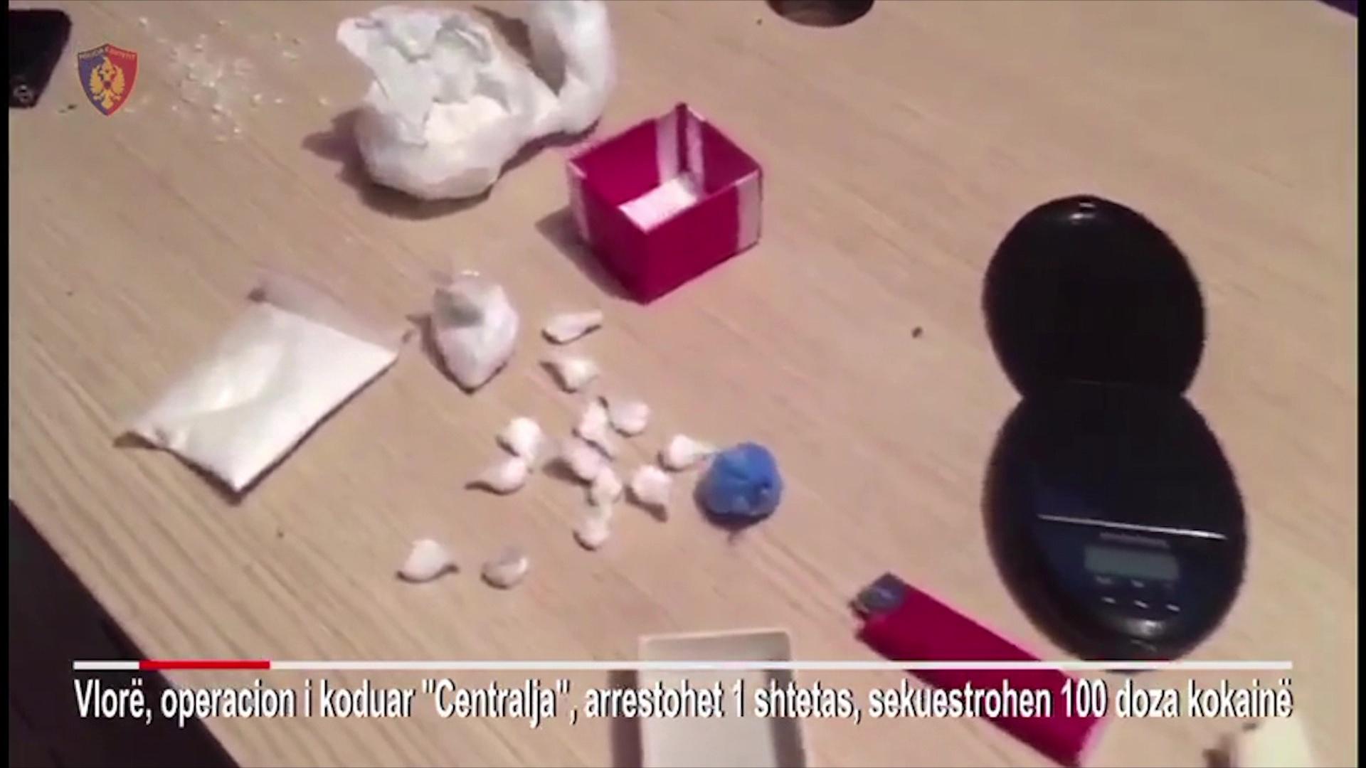 """Operacioni """"Centralja"""" në Vlorë, kapet i riu me 100 doza kokainë"""