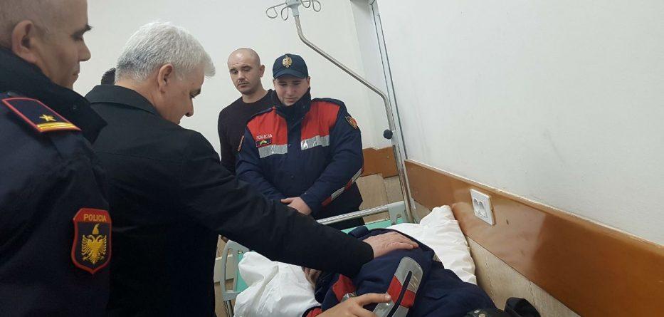 Xhafaj viziton efektivin e plagosur në protestë
