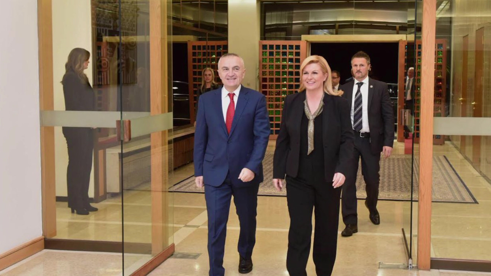 Zagreb, Meta takon presidenten kroate Grabar-Kitarović