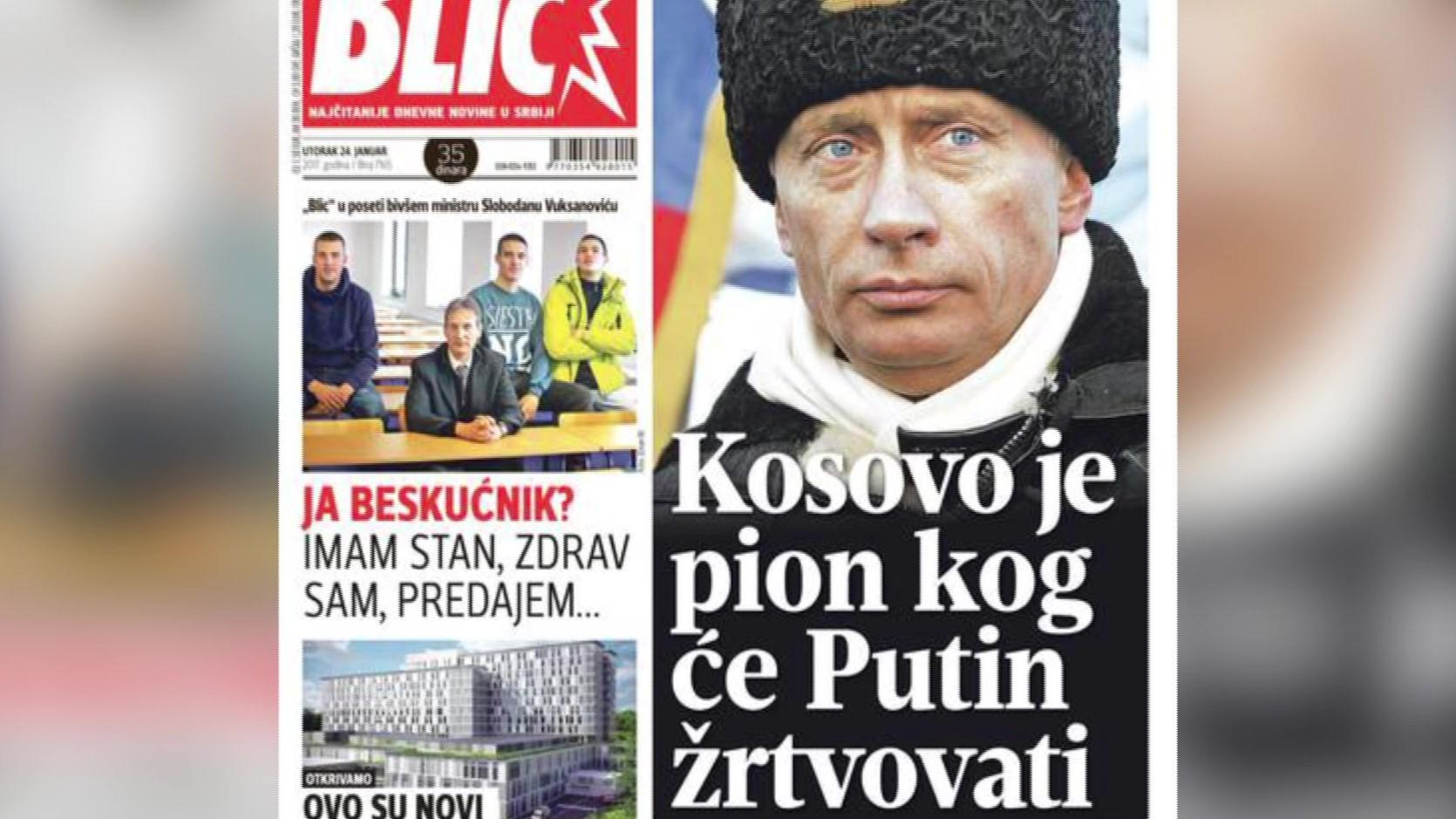 Gazeta serbe Blic: Vladimir Putin ka gati njohjen e pavarësisë së Kosovës