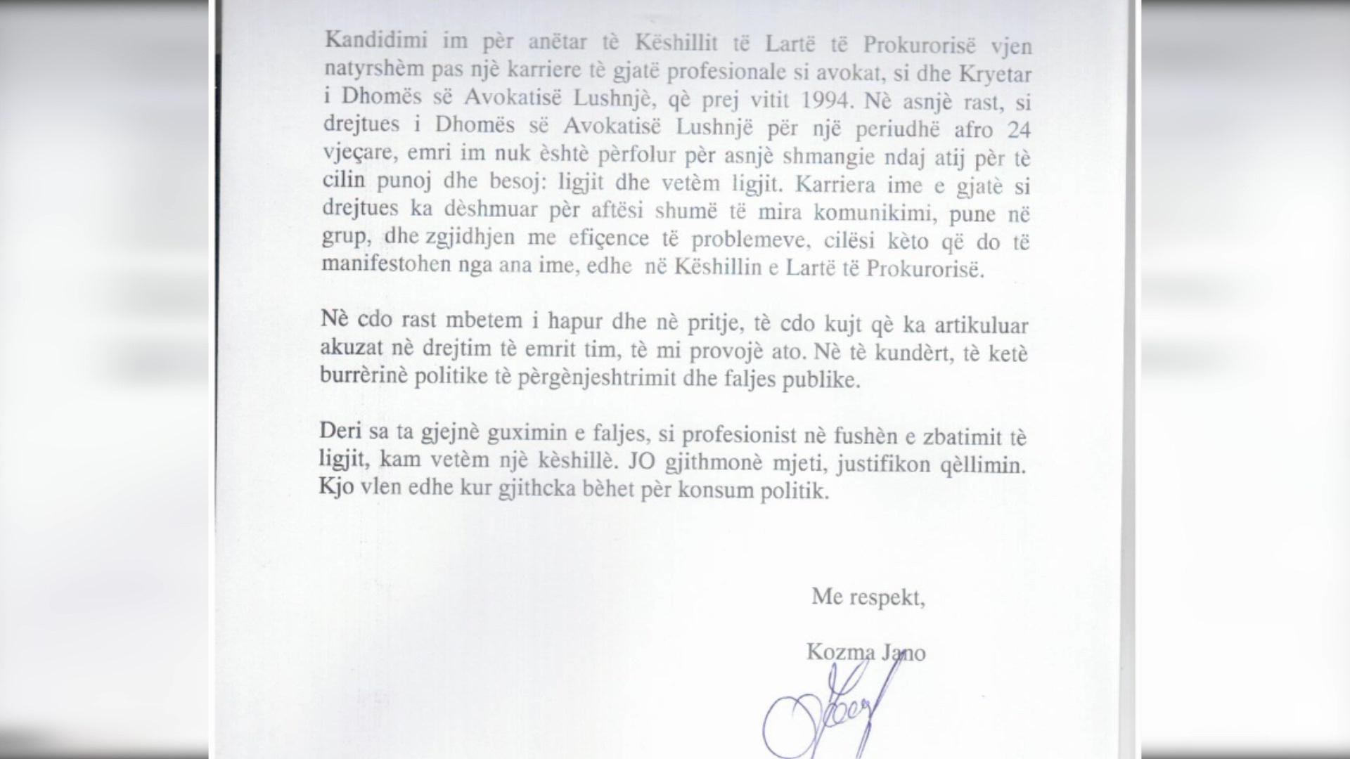 Kozma Jano hedh poshtë akuzat e PD-së se ka qenë bashkëpunëtor i Sigurimit të Shtetit