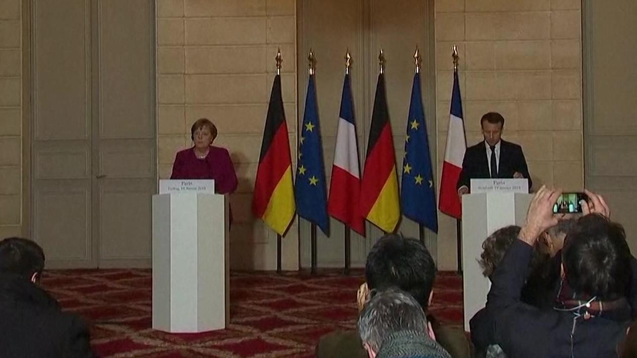 Francë-Gjermani, Macron takon Merkel