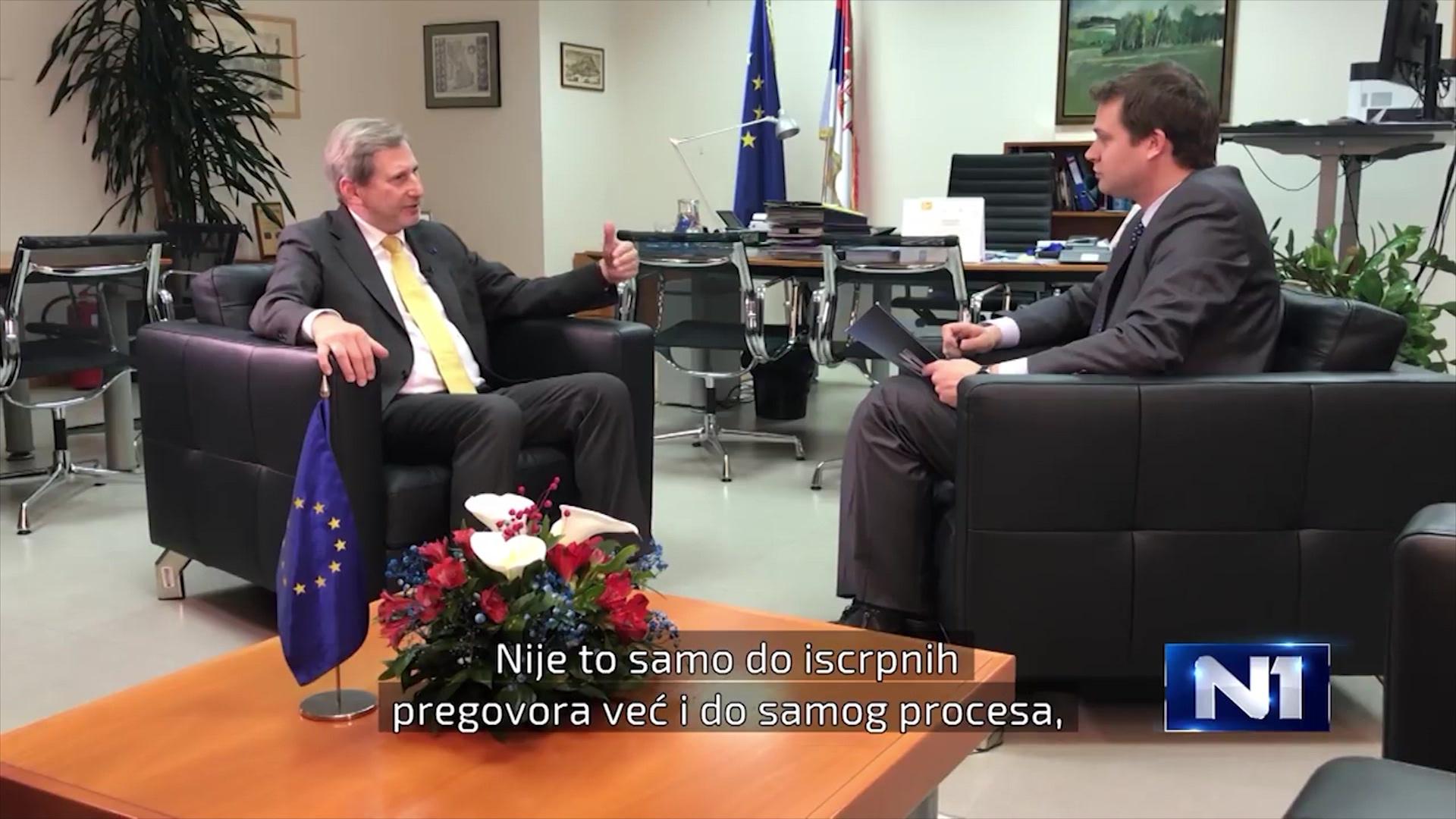 Hahn: Vitin e ardhshëm zgjidhja përfundimtare mes Serbisë e Kosovës