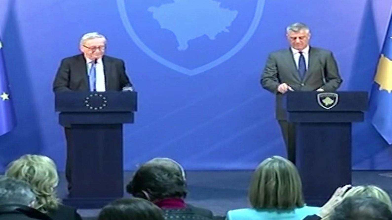 Thaçi falenderon BE-në për mbështetjen ndaj vendit