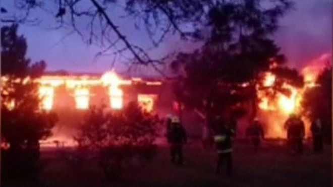 Azerbajxhan/Zjarr në një qendër rehabilitimi, 25 të vdekur