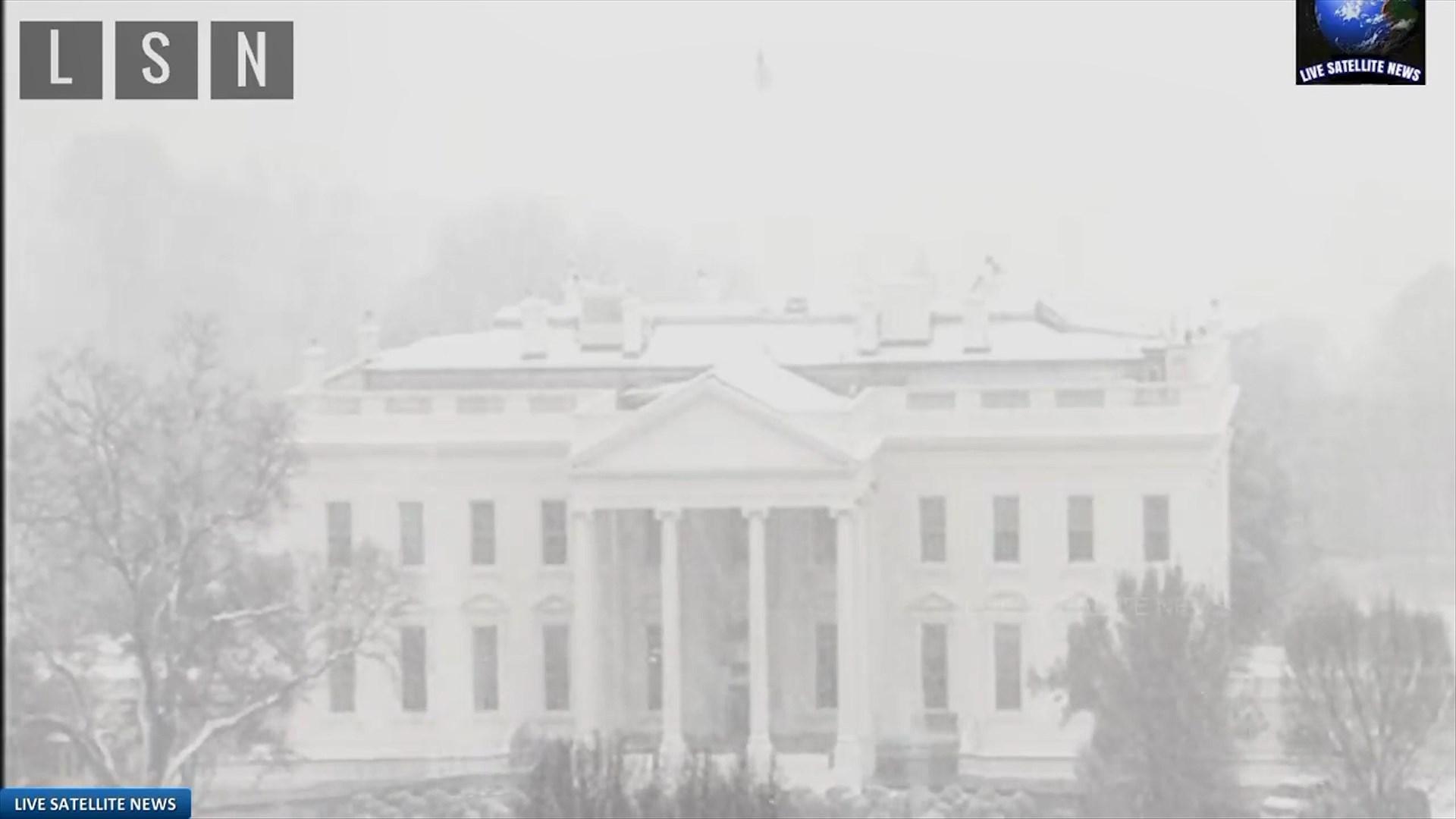 Pranverë e pazakontë në Uashington, dëbora mbyll shtëpinë e bardhë