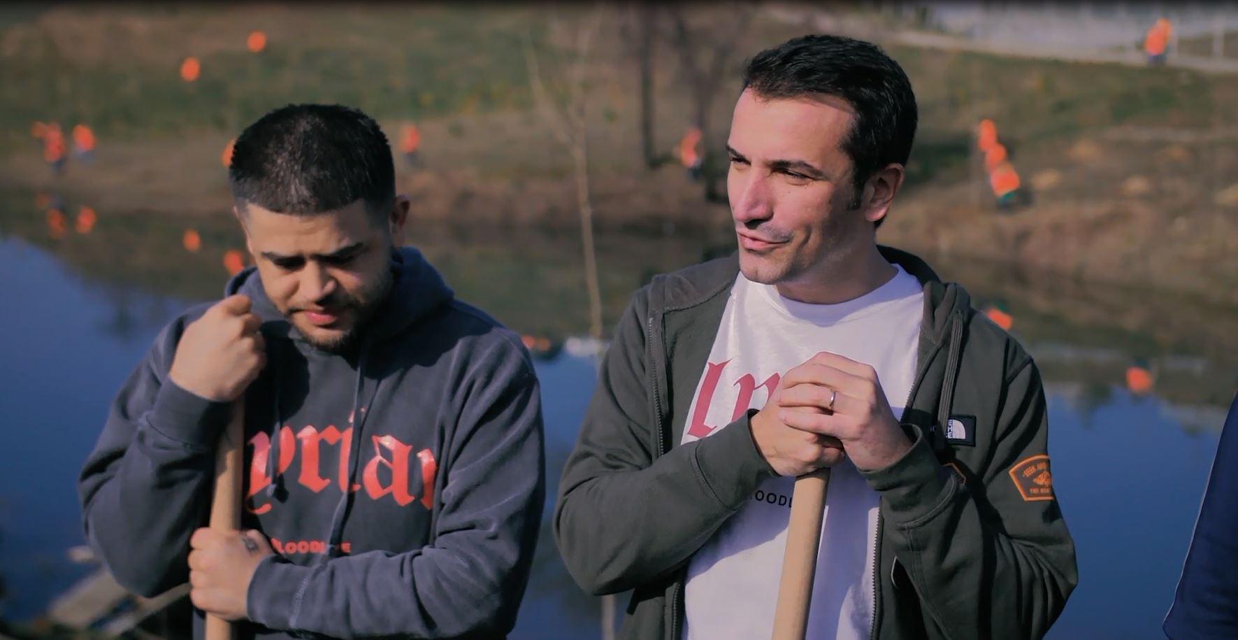 Veliaj dhe Noizy mbollën pemë te liqeni i Farkës