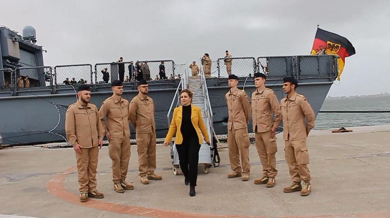 """Xhaçka në Izmir, vizitë surprizë në anijen """"Butrinti"""