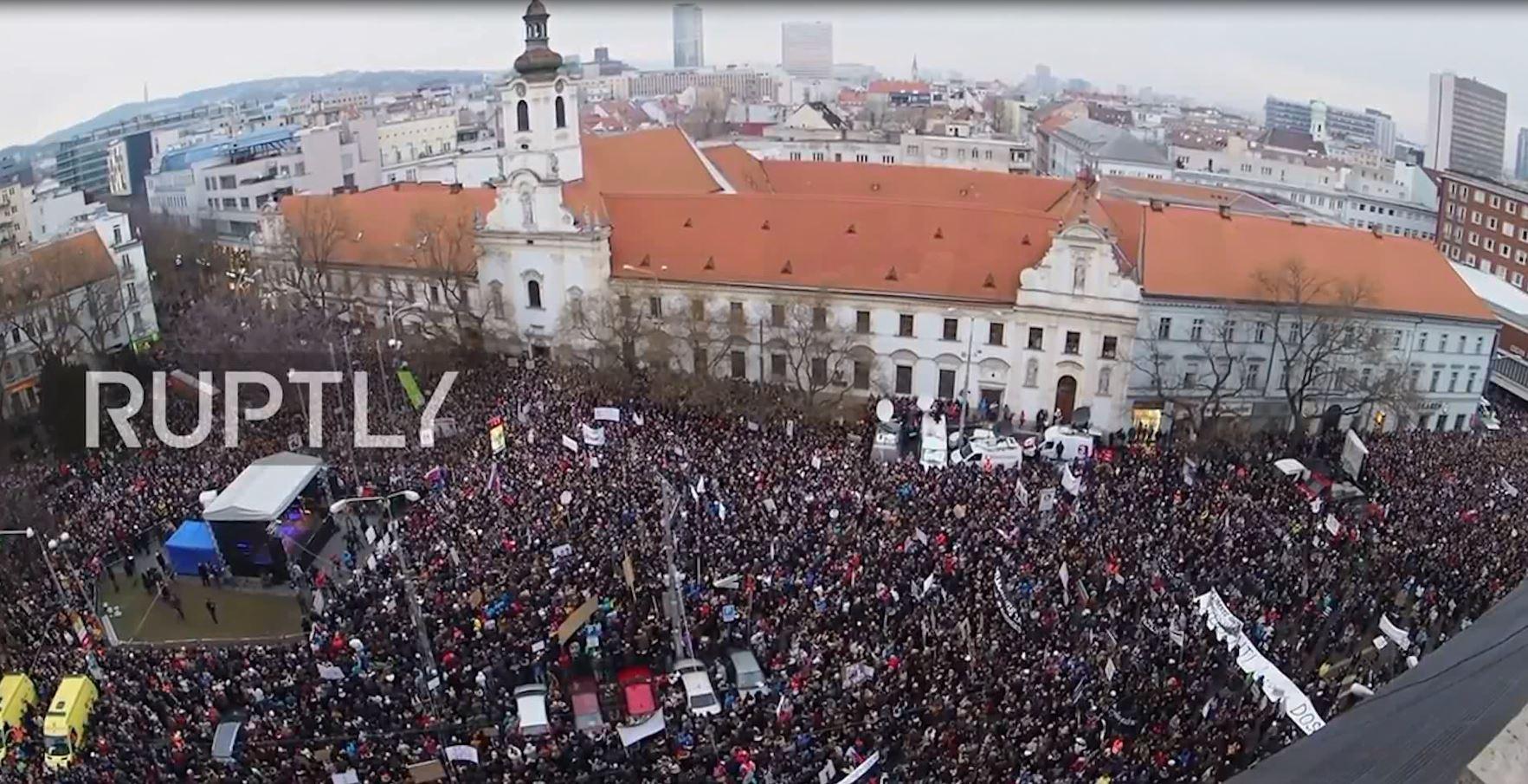 Protesta në Sllovaki për zgjedhje të reja