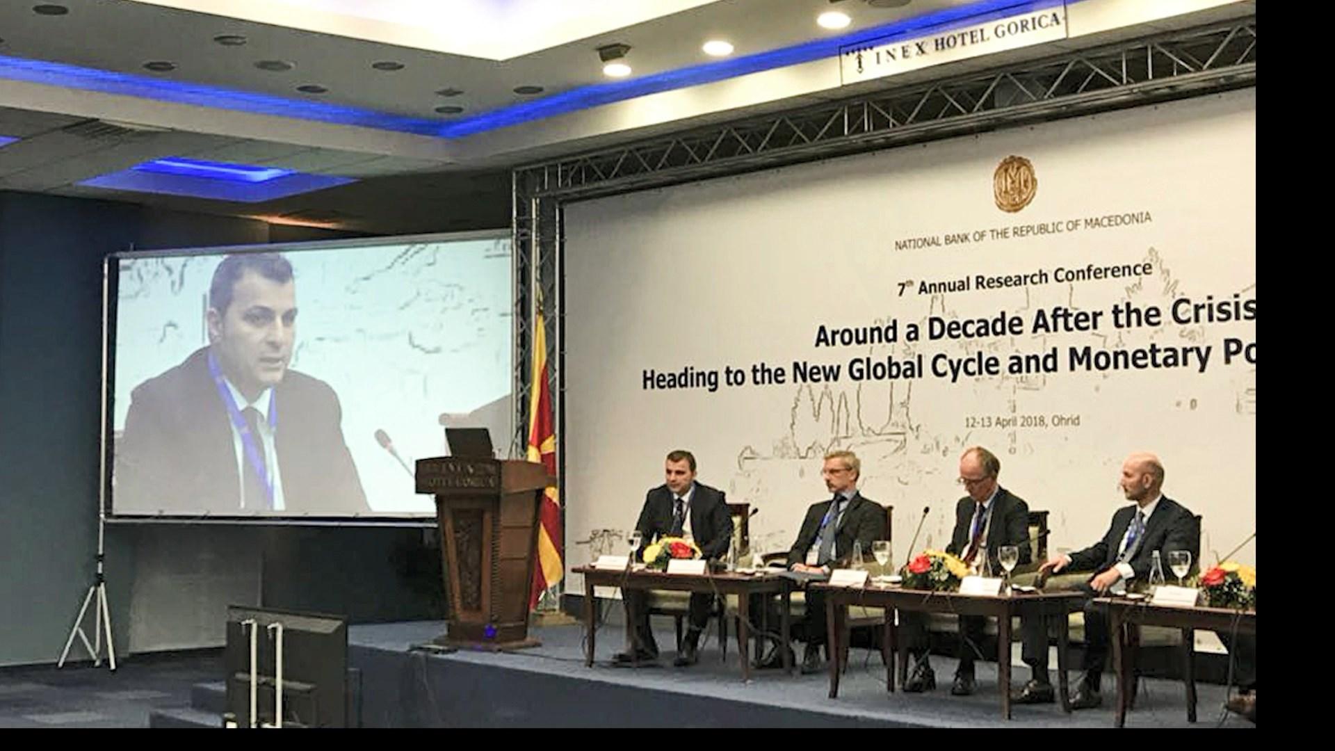 """Guvernatori Sejko në konferencën """"Rreth një dekadë pas krizës"""""""