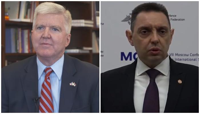 Ministri i Mbrojtjes i Serbisë përplaset me ambasadorin amerikan