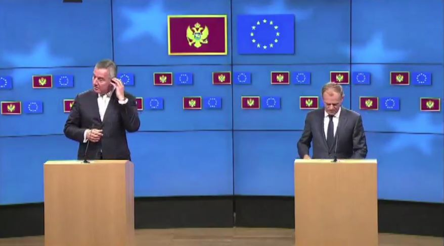 Tusk pret Presidentin e Malit Të Zi në Bruksel