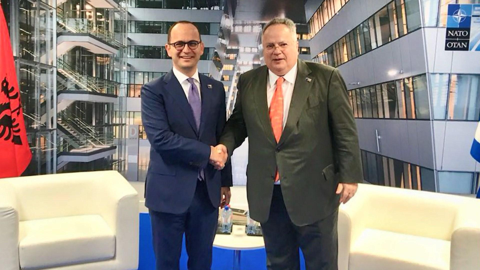Marrëveshja Shqipëri-Greqi/ Bushati takohet në Bruksel me Kotzias