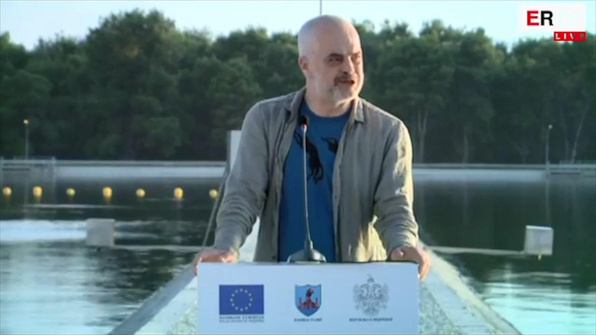 Rama përuron impiantin e përpunimit të ujërave të zeza në Vlorë