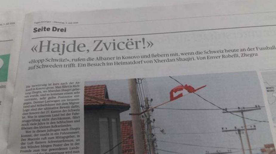 """""""Hajde Zvicër"""", gazeta zviceriane i drejtohet futbollistëve në shqip"""