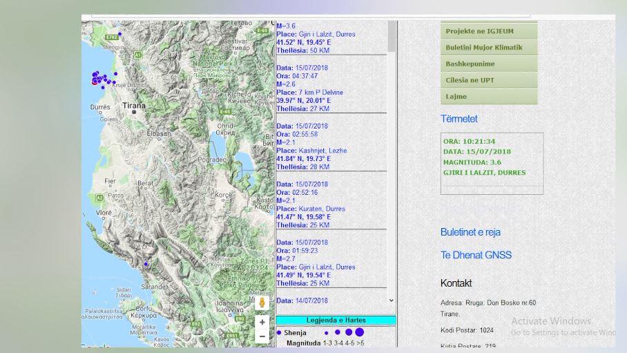 Një tjetër tërmet është regjistruar në Gjirin e Lalzit