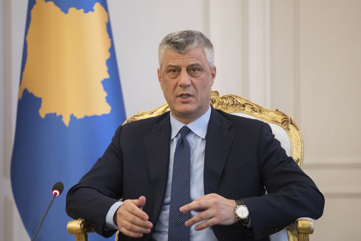 Thaçi: Pro bashkimit të Kosovës, kundër shkëmbimit të territorit