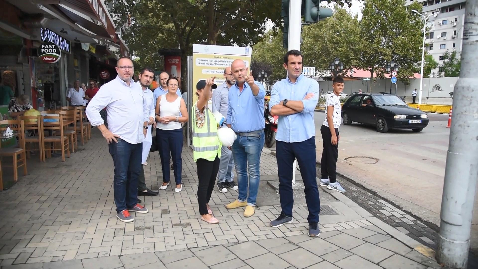 """Veliaj dhe UKT inspektim punimesh në rrugën e """"Kavajës"""""""