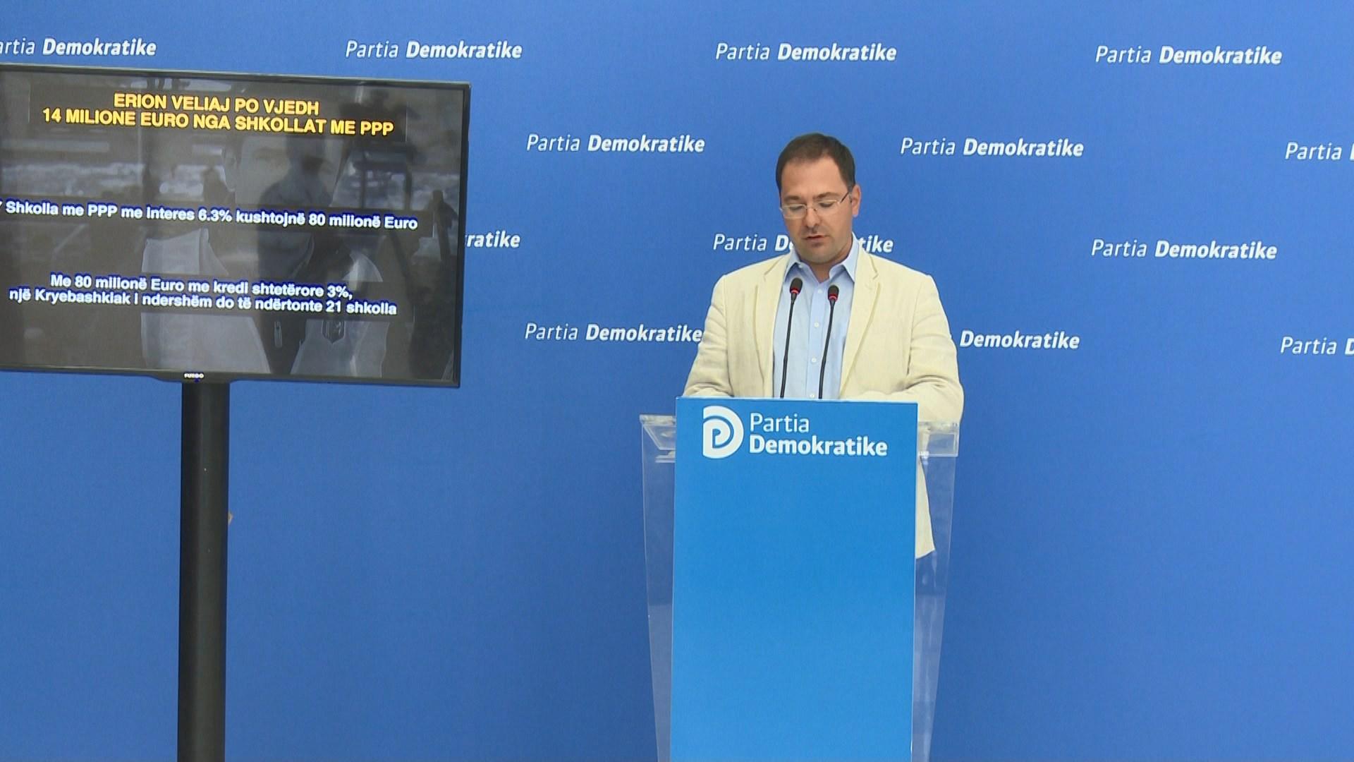 PD: Veliaj vjedh 14 milionë euro me projektin e shkollave