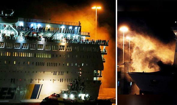 Zjarr në tragetin grek, shpëtohen pasagjerët