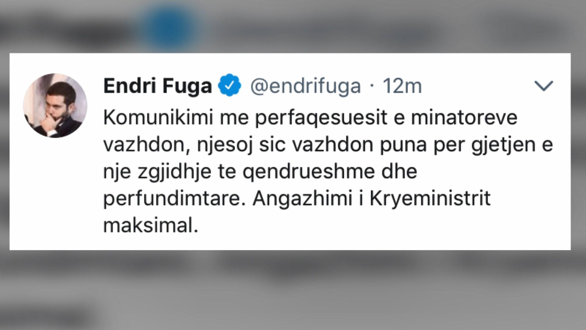 Endri Fuga: Angazhim maksimal për statusin e minatorëve