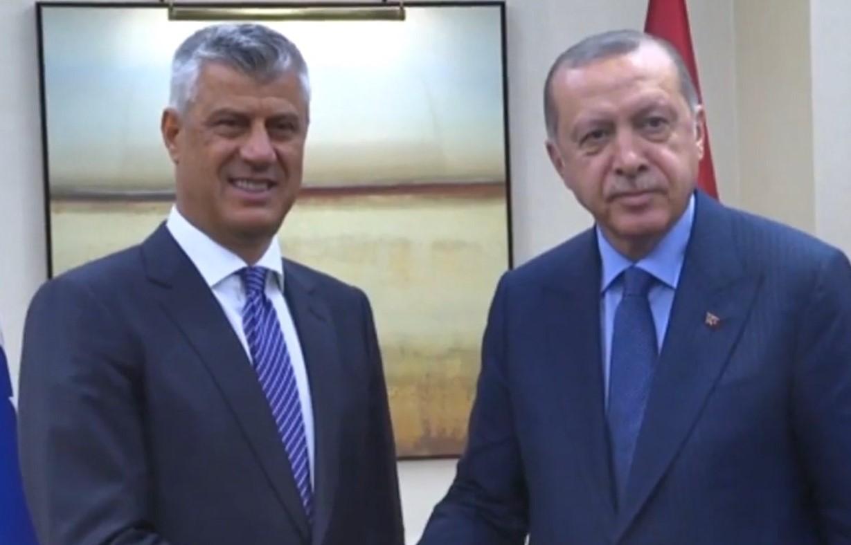 Thaçi takohet me presidentin turk Erdogan