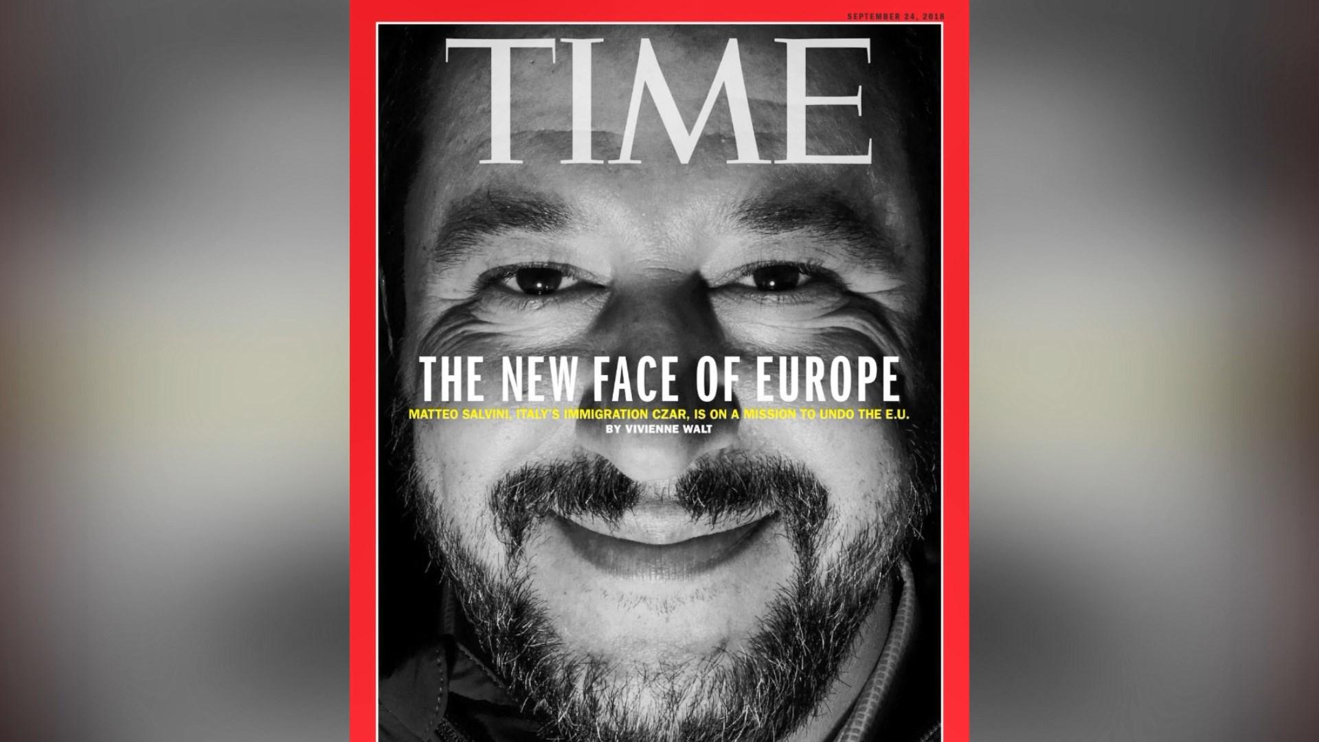 """""""Time"""" i dedikon kopertinën Ministrit të Brendshëm italian Matteo Salvini"""