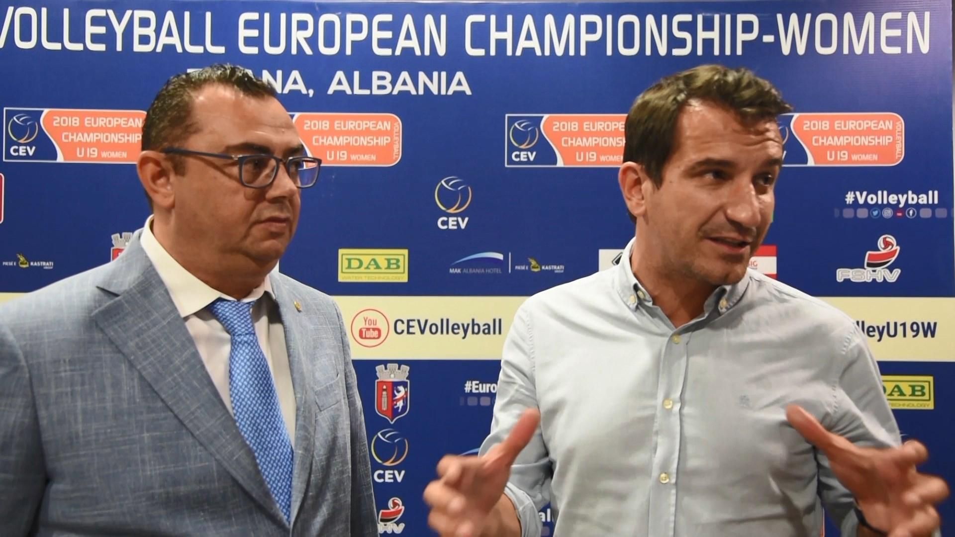Tirana mirëpret finalet e Kampionatit Europian në Volejboll për femra (U19)