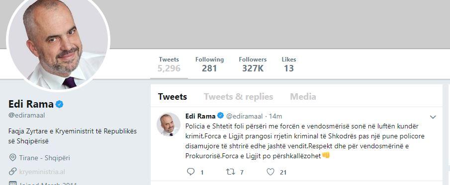 Reagon Rama për arrestimet: Respekt për vendosmërinë e Prokurorisë