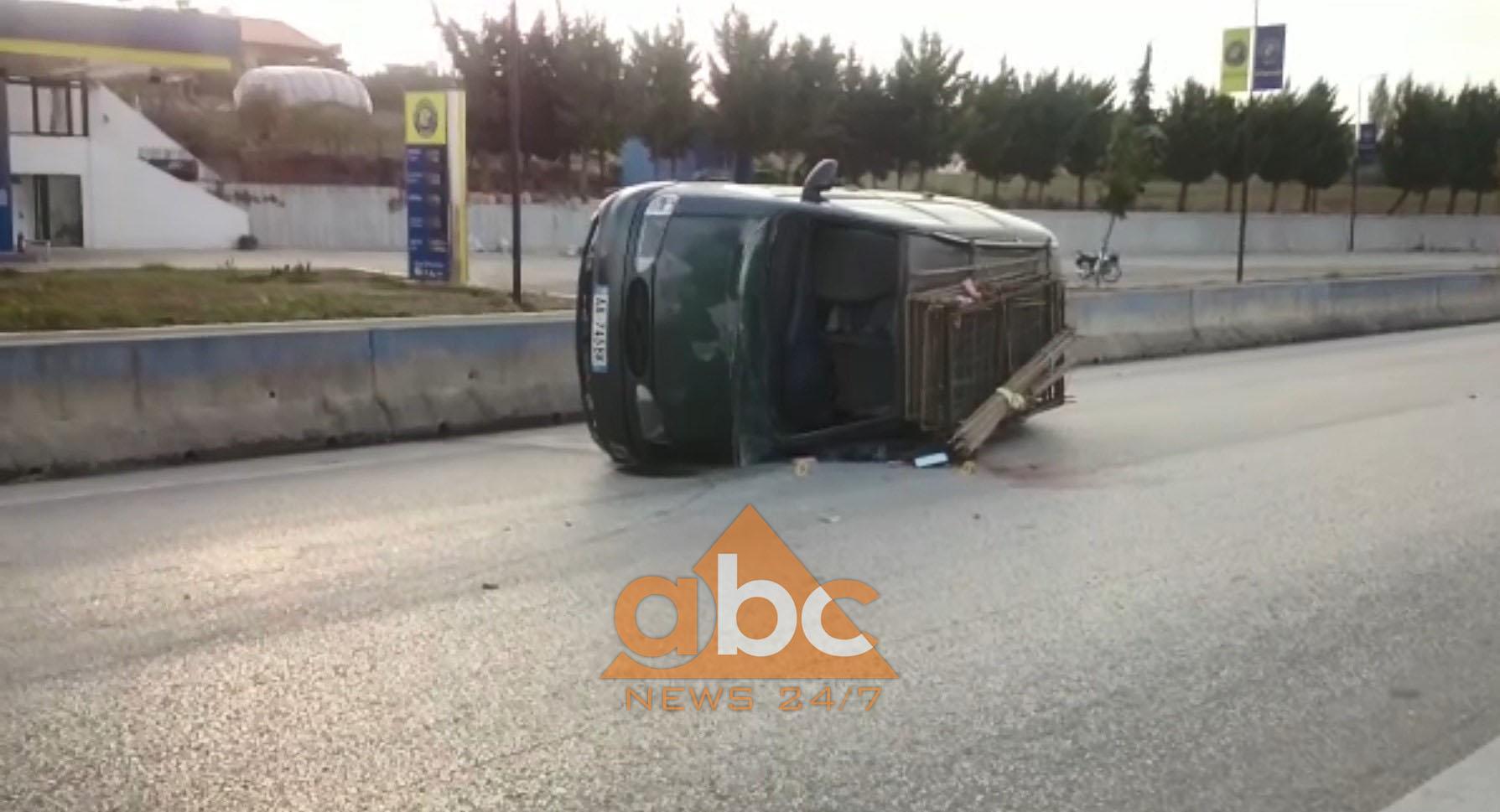 Video/ Përmbyset automjeti në autostradë, plagoset drejtuesi