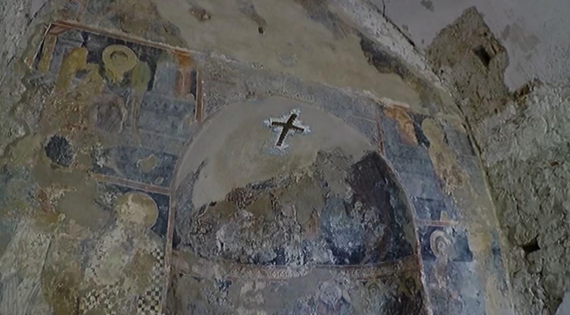 Kisha e Balldrenit në Lezhë, aty ku ndodhet afresku i Darkës së Fundit