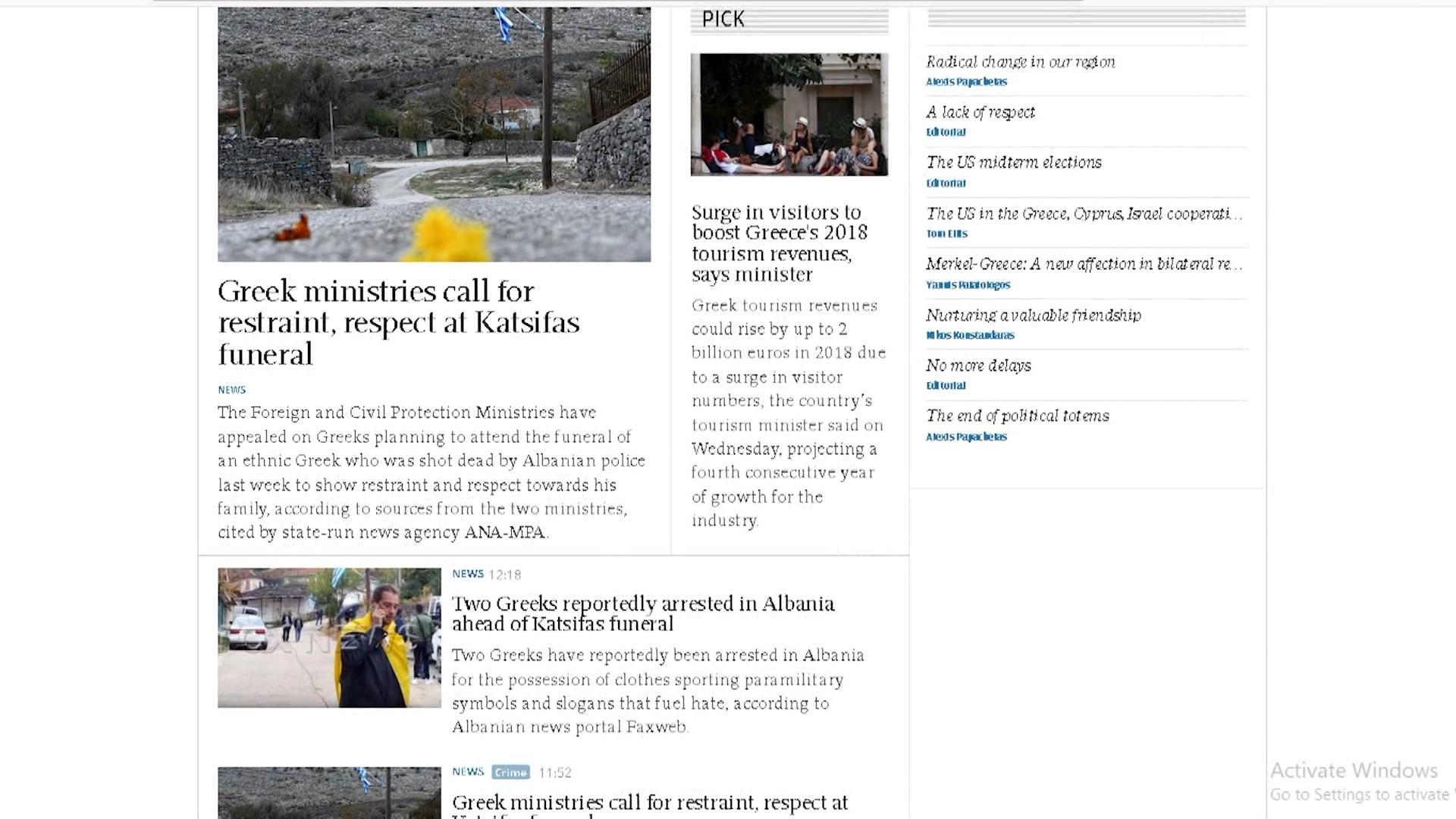 Ministritë greke apel qytetarëve për vetëpërmbajtje
