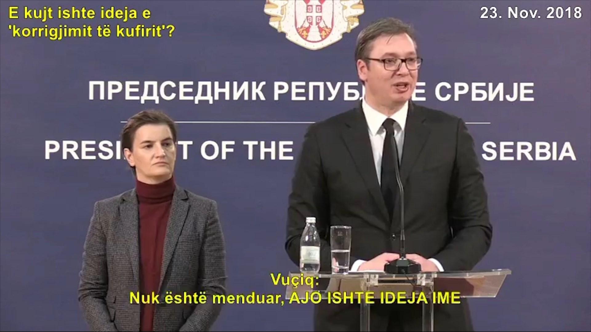 Vuçiç tërhiqet nga ideja për ndryshimin e kufijve me Kosovën