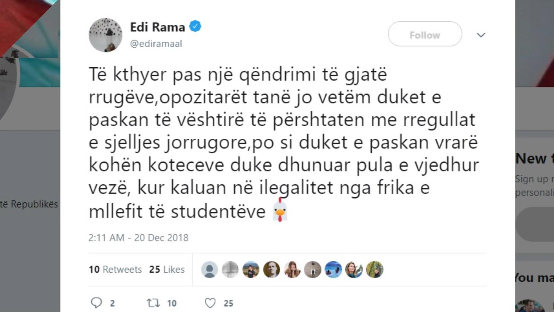 Rama reagon për incidentin në Kuvend