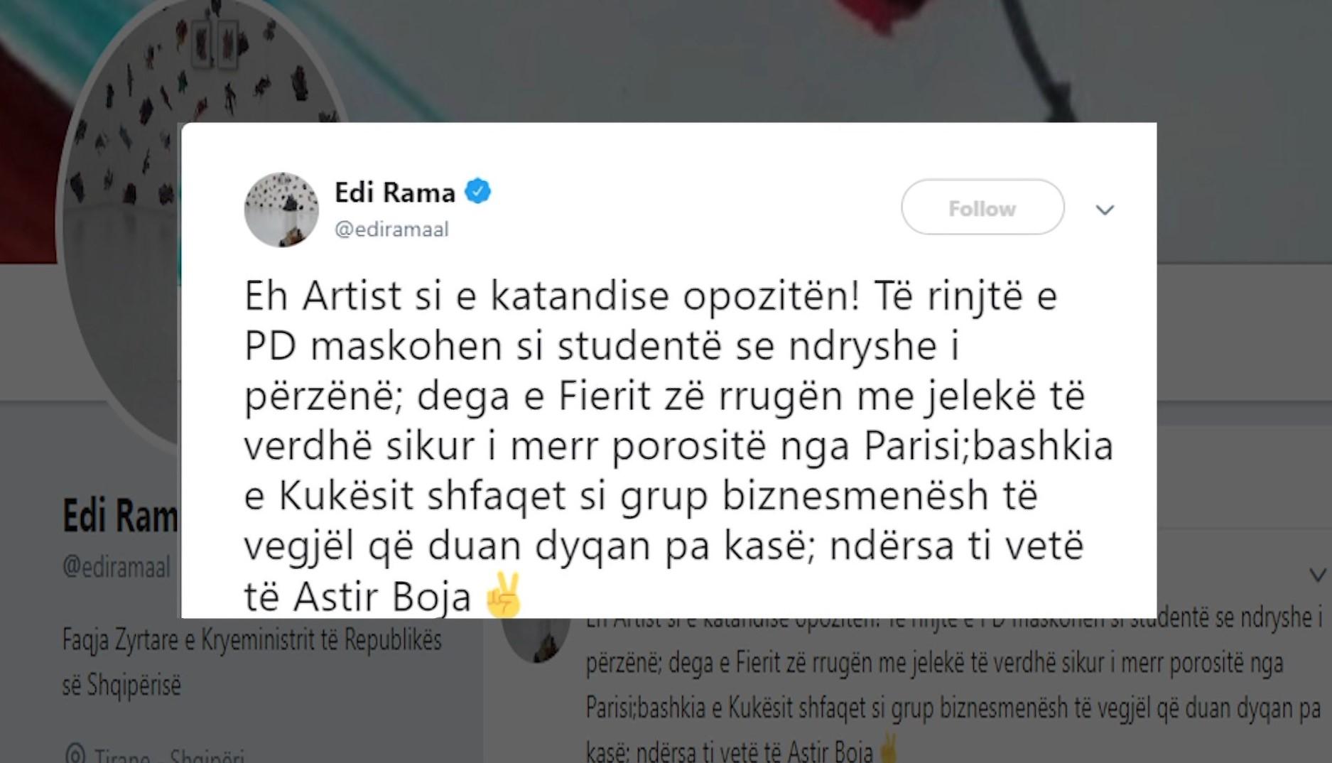 Pas skadimit të afatit të studentëve, Rama akuza Bashës