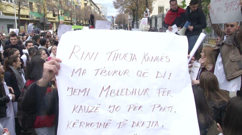 Nis protesta e studentëve, marshim drejt Ministrisë së Arsimit