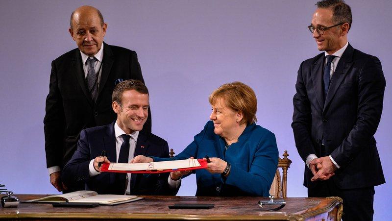 Mes protestave, Merkel dhe Macron ripërtërijnë Traktatin e Elizesë