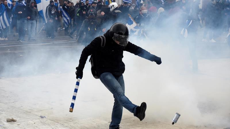 Greqi, dhunë në protestën kundër Marrëveshjes së Prespës
