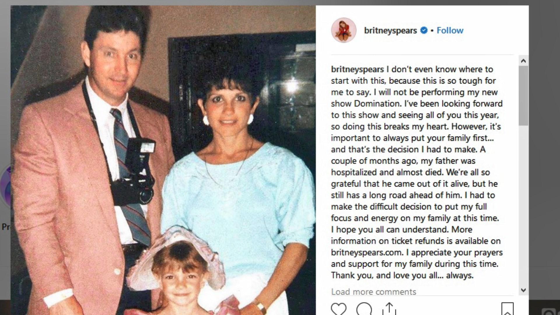 Britney Spears anulon turin e saj botëror