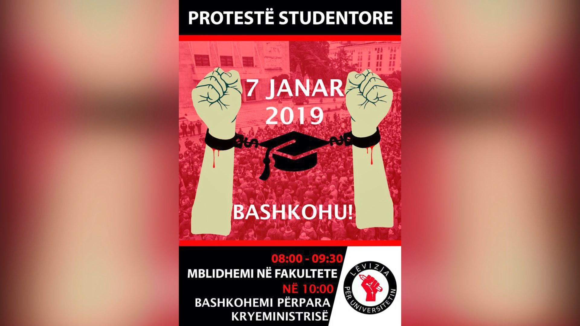 Në 7 janar rinisin protestat e studentëve