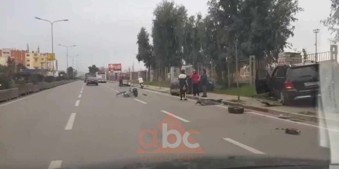 Aksident në Durrës, plagoset drejtuesi i biçikletës