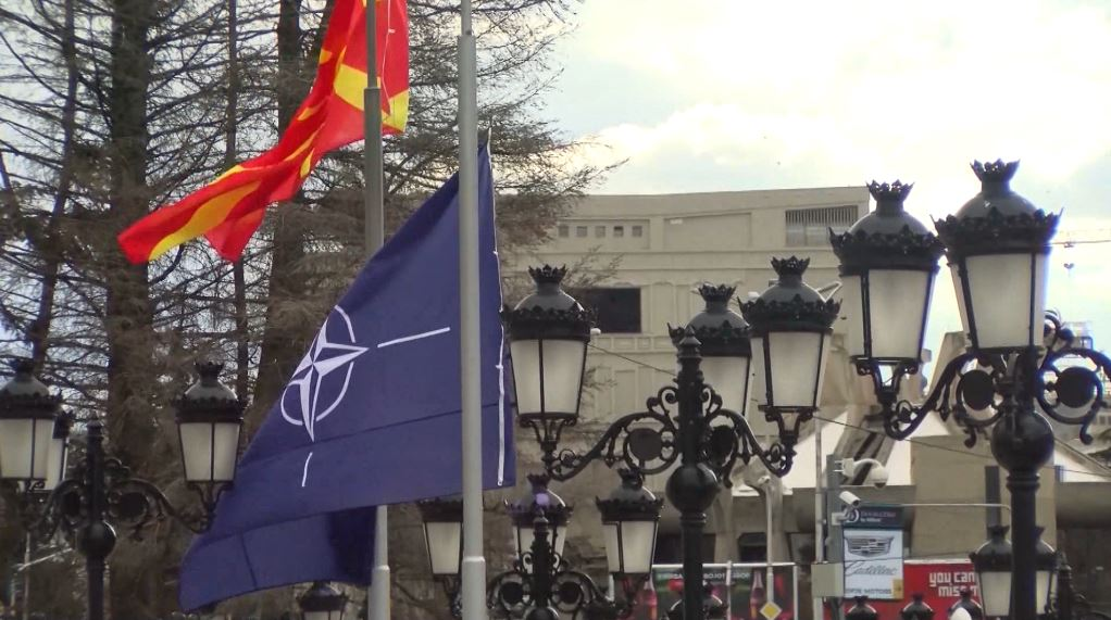 Ceremoni për ngritjen e flamurit të NATO-s në Shkup