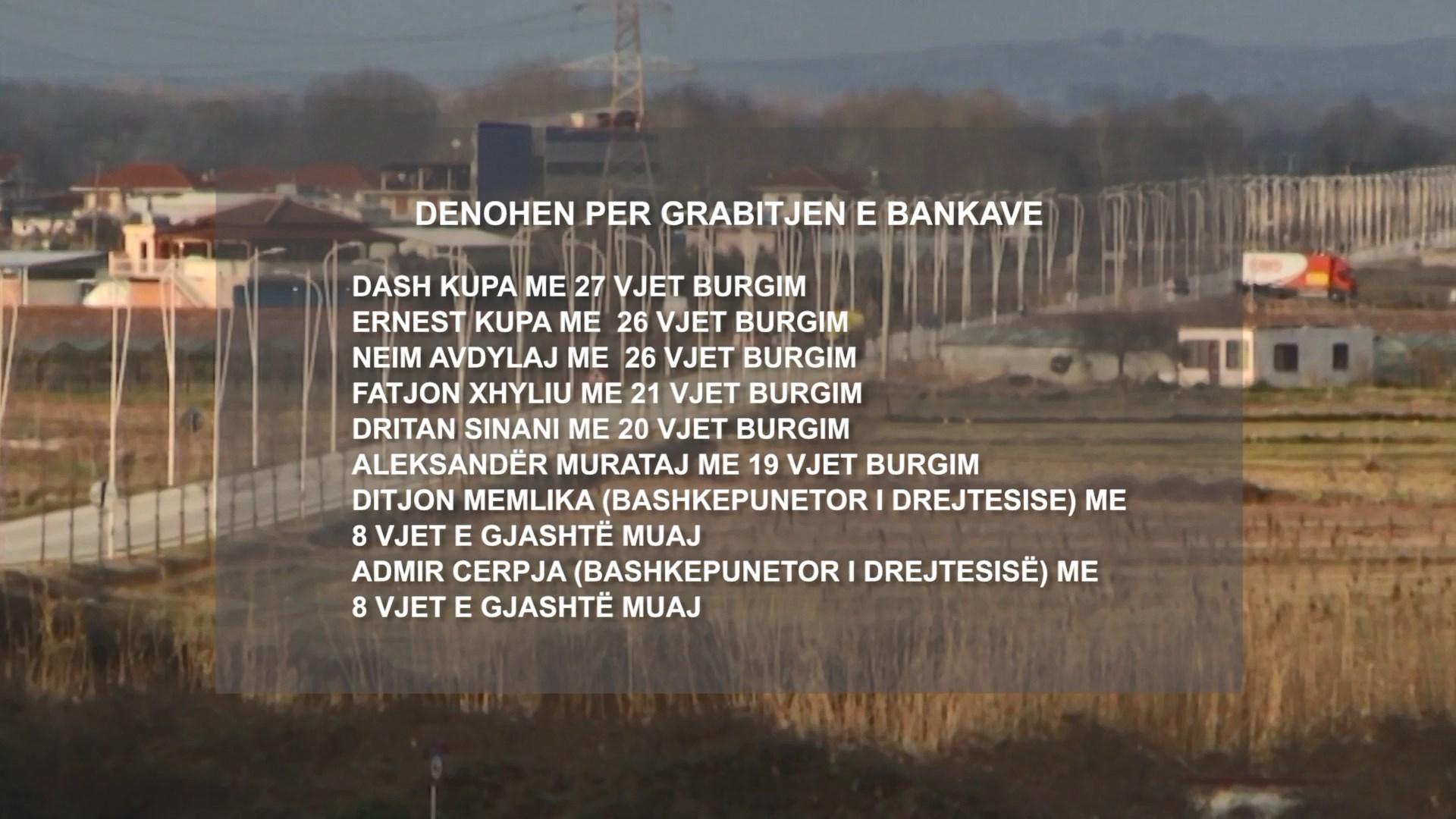 Grabitjet e bankave dhe autoblindave, dënohen 9 anëtarët e grupit