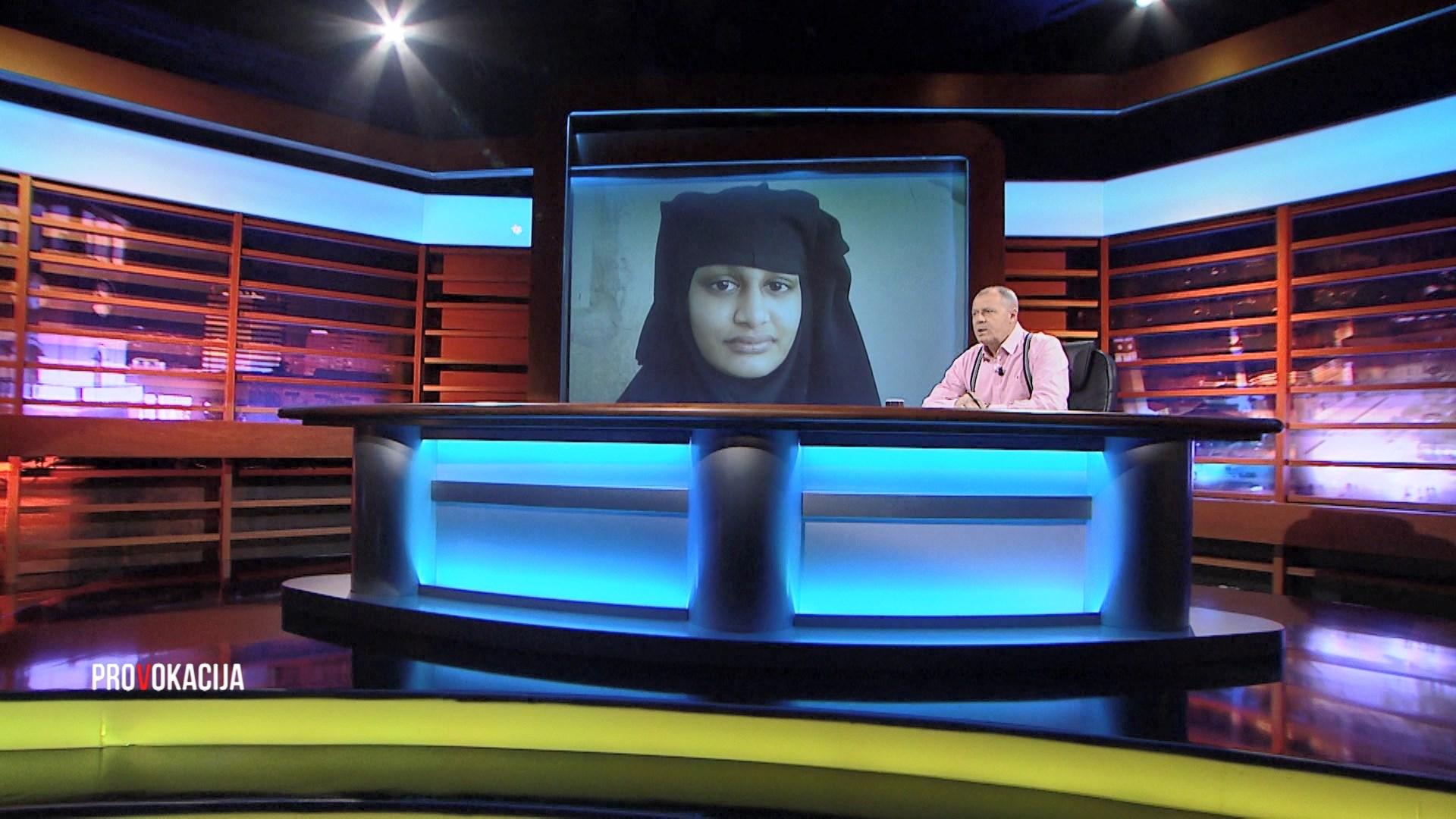 Myslimania ekstremiste Shamima Begum në Provokacija